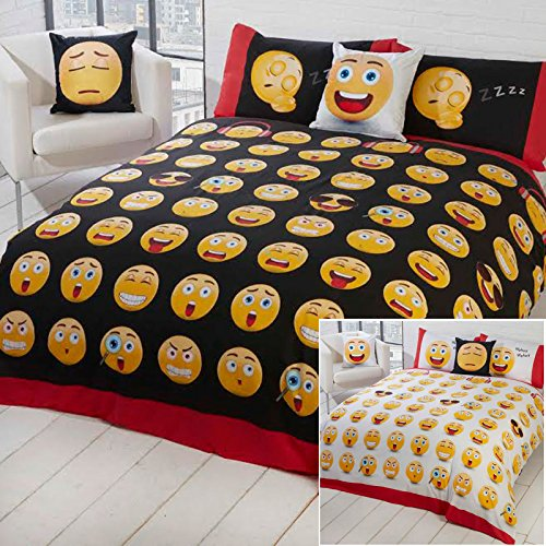 Just Contempo Emoji Icon Duvet Cover Set - Multi-coloured, Single