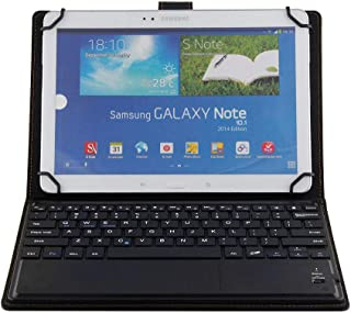 حافظة جلدية عالمية للوحة المفاتيح للكمبيوتر اللوحي مقاس 10 بوصة، حافظة Sony Xperia Tablet Z Keyboard ، غطاء جلد صناعي مع ل...