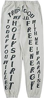 Arnodefrance Unisex Kanye Sweatpants Joggers Yoga Lounge Pants Pockets Retro Outdoor Hiking Running Trousers