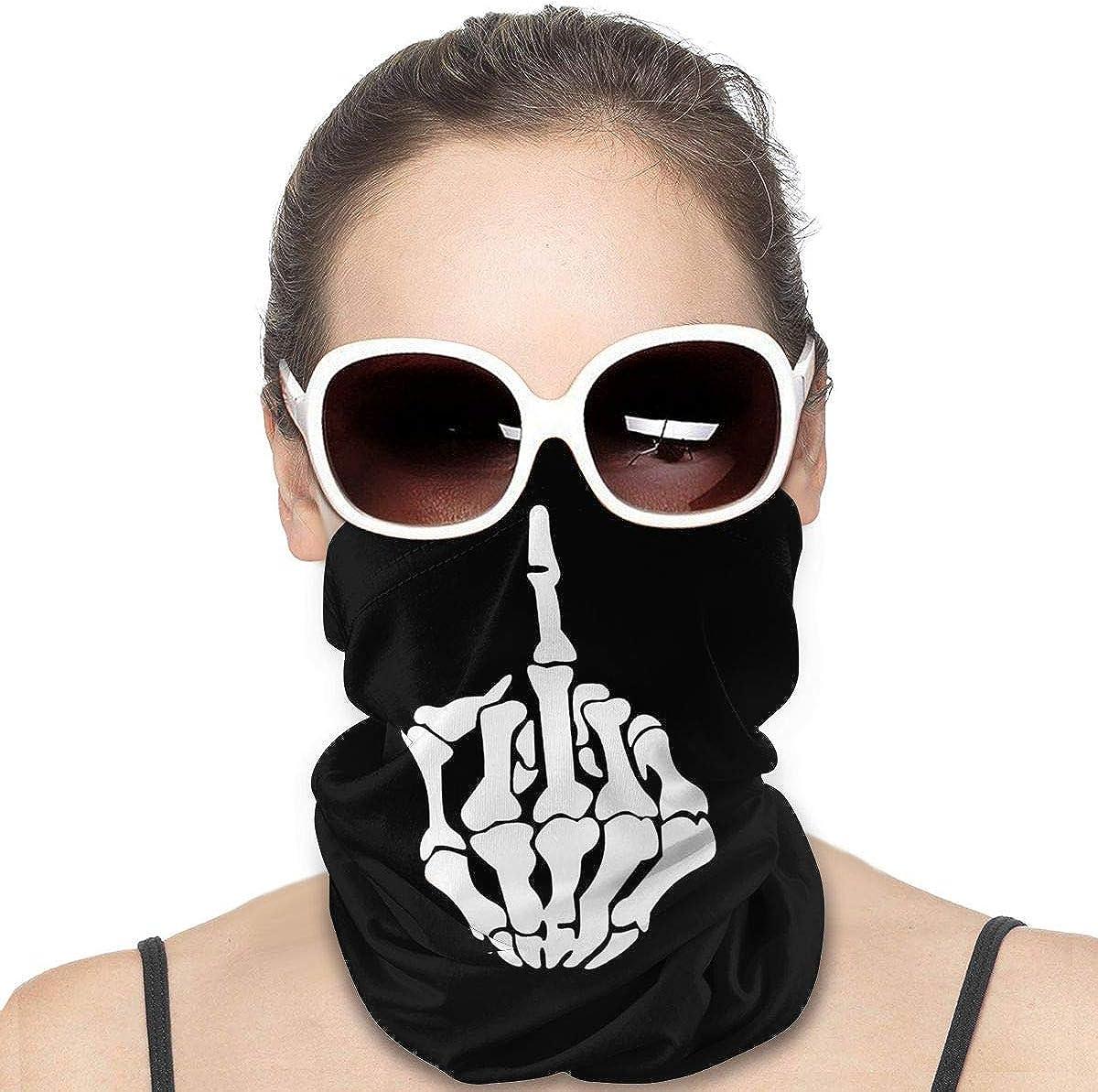 JinSPef Motorcycle Masks for Men - Fuck Off Rude Gesture Motorcycle Mask Bandana Face Mask Neck Gaiter Head Bands Sport Mask Headwear Neck Gaiter