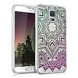 kwmobile Funda Compatible con Samsung Galaxy S5 / S5 Neo - Carcasa de TPU y Sol Azteca en...