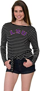 Women's LSU Tigers Tia Tie Front Top with a Scoop Neck