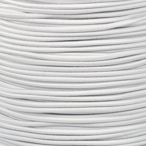 Paracord Planet 1/8 Inch Shock Cord – USA Made Bungee Cord – For Indoor and Outdoor Uses (50 Feet, White)