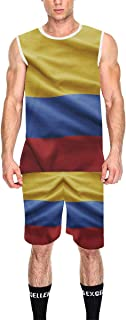 Lumos3DPrint Colombia Flag Men's Basketball Jersey Tank Top and Shorts