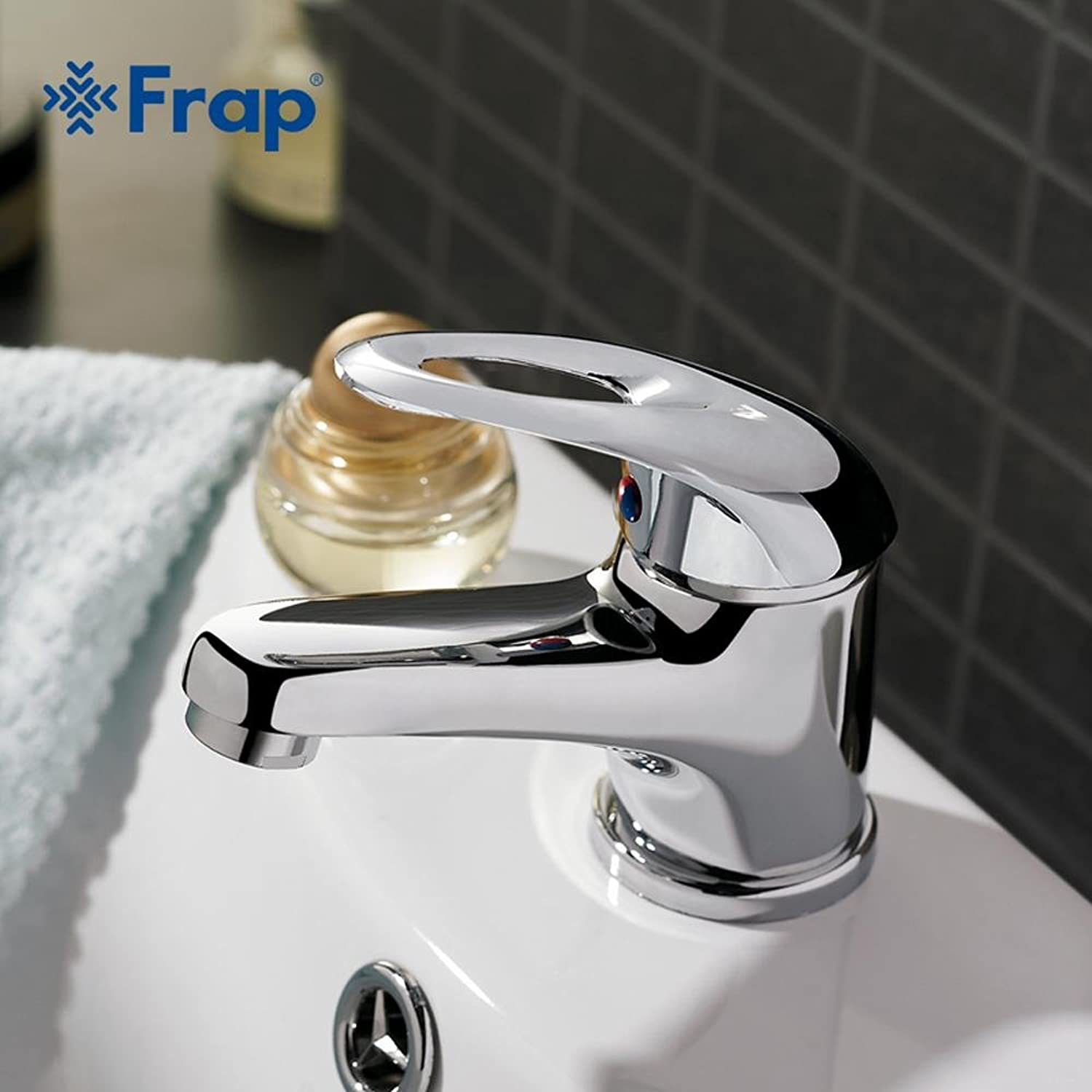 Homeloye Classic Style Basin Faucet Deck Mounted Cold and Hot Water Mixer Single Handle Torneira F1003