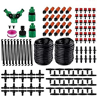HYLAN Irrigation Kit 149PCS Micro Watering Systems Plants Drip Irrigation Greenhouse Sprinkler for Garden Humidification L...