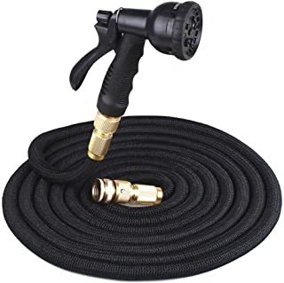 HEEGNPD 25Ft-200Ft Hose Magic Flexible Water Hose Plastic Hoses Pipe with Spray Gun to Watering
