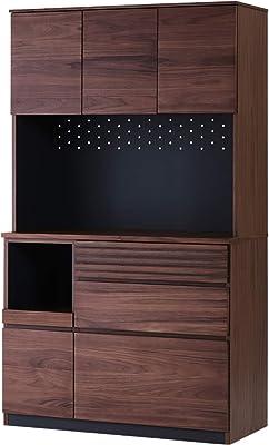ISSEIKI キッチンボード 105 (ミディアムブラウン) STYLE-2 KITCHEN BOARD 105 OP (WN-MBR) ウォルナット材 キッチン収納 収納家具 木製