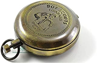ROORKEE INSTRUMENTS (INDIA) A NAUTICAL REPRODUCTION HOUSE Scout Boy Compass W/Scout Oath/Eagle Scout Gift