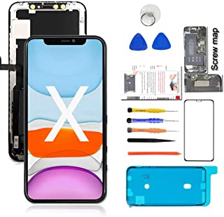 """for iPhone X OLED Screen Replacement (Model A1865 A1901 A1902), [NOT LCD] 5.8"""" Display Digitizer Touch Screen Assembly Set +Full Repair Tools Kit"""