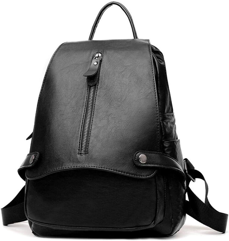 HANGBAOY Damen Doppel Schulter Tasche Handtasche PU PU PU Reißverschluss Freizeit Shopping Anti-Diebstahl Schwarz 23  12  33cm B07MX318TC  Qualitätsprodukte 340f97