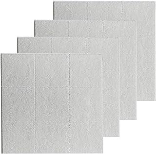MERIGLARE 4 stuks prikbord van vilt voor kantoor memo prikbord kunst 30 x 30 cm