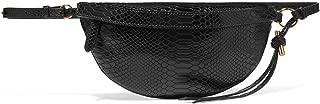 Women Waist bag Snake Pattern Chest handbag bags for women 2019,Black