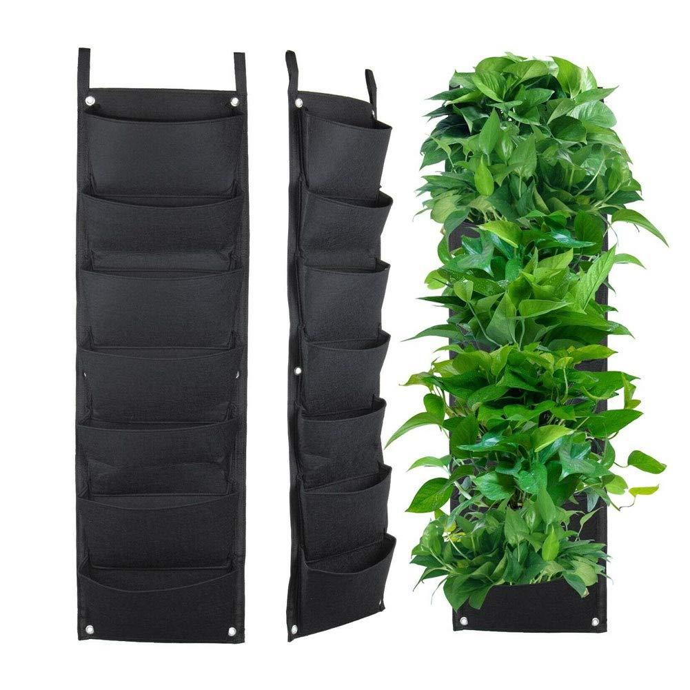 KangOnline - Maceta de 7 bolsillos para colgar en la pared, vertical para jardín, decoración del hogar: Amazon.es: Hogar