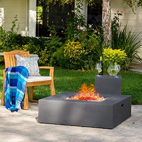 Hearth 50K BTU Outdoor Gas Fire Pit Table with...