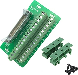 Sysly IDC30 2x15 Pins Male Header Breakout Board Terminal Block Connector with Simple DIN Rail Mounting feet
