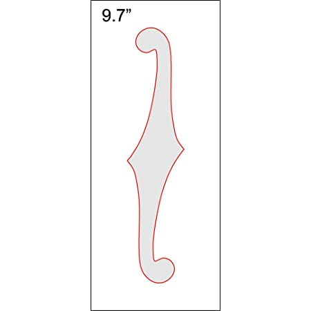 """F-Hole Routing Template - 9.7"""" Sharp"""