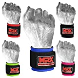 MRX BOXING & FITNESS Wrist Wrap for Weight Lifting (Blue), Crossfit, Bodybuilding, MMA Training Wrist Support, Gym Accessories for Men and Women, Workout Gear Wrist Straps for Wrist Pain