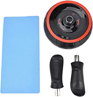 Yosoo Abdominal Wheel Roller Trainer Fitness Equipment Gym Home Exercise Tool with Training Pads(red&Black)
