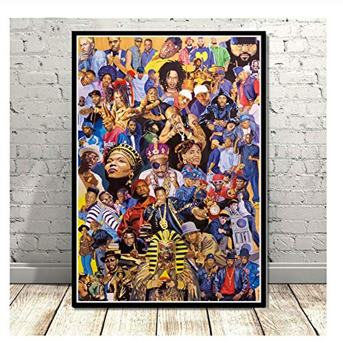 Hip Hop Rapper Music Singer Stars Collage Poster Prints Painting Canvas Art Wall Pictures Living Room Home Decor-50x70cm No Frame