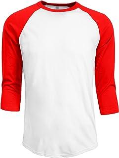 NE PEOPLE playera de béisbol manga 3/4 para hombre, camiseta raglán S-2XL