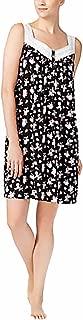 Womens Pleated Yoke Printed Knit Nightgown