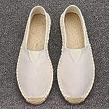 Tallas Grandes 35-45, Zapatos de Lino para Coser para Mujer, Mocasines sin Cordones, Zapatos Casuales, Alpargatas, Zapatos Planos de Lona de cáñamo