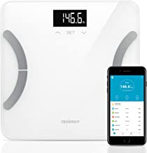 Tenergy Vitalis Body Fat Scale Digital Weight Bluetooth Connected APP Scale, High Precision BMI Scale with Large Easy Read Backlit LCD, Body Scale, Max Weight 400 Pounds (iOS/Android)