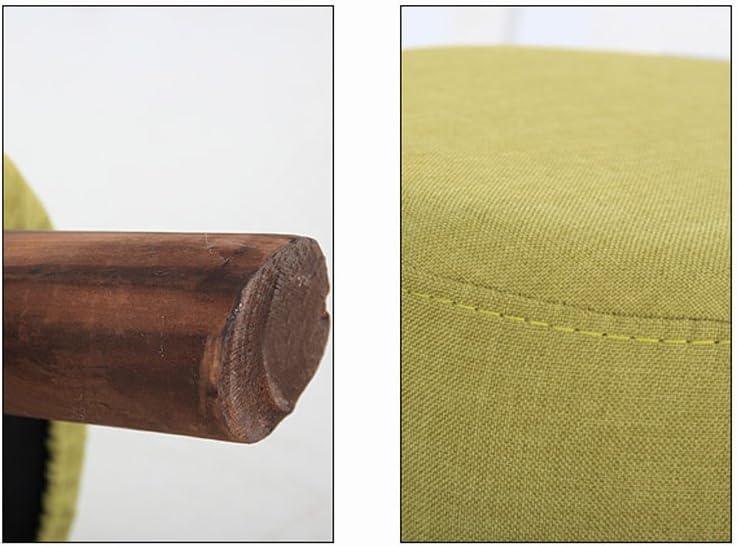 SLL- Canapé tabouret en bois massif chaussures tabouret tabouret minimaliste moderne Fauteuils et Chaises (Color : A) A
