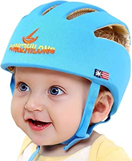 Infant Baby Safety Helmet, IULONEE Toddler Adjustable Protective Cap, Children Safety Headguard Harnesses Protection Hat for Running Walking Crawling Safety Helmet for Kids (Blue)