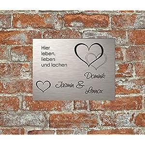 Haustürschild Klingelschild Namensschild Eingangsschild Pokalschild Briefkastenschild Türschild Familie Gravur…