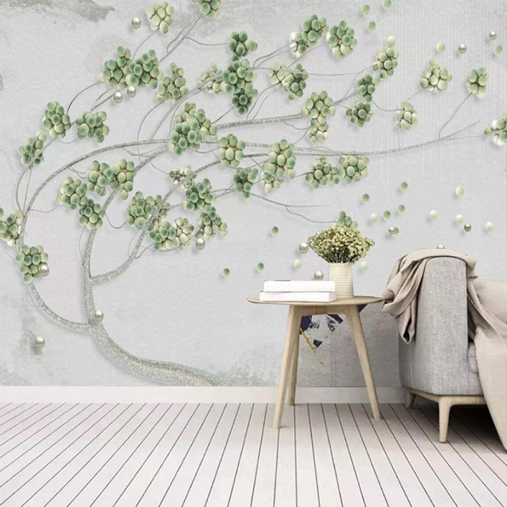 Msrahves Nursery Wall Stickers Green Relief Plant Year-end Cheap bargain gift Tree 350X200CM
