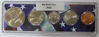 2012 - 5 Coin Birth Year Set in American Flag Holder Uncirculated