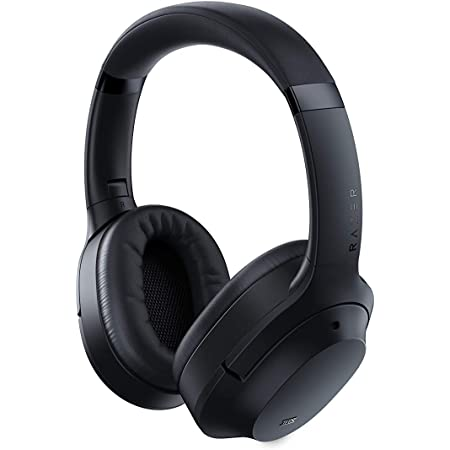 New Razer Opus Active Noise Cancelling ANC Wireless Headphones: THX Audio Tuning – Up to 40 Hr Battery – Bluetooth 5.0 & 3.5mm Jack Compatible - Auto Play/Auto Pause - Carrying Case Included - Black