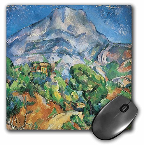 "Price comparison product image 3D Rose""Monte Saintevictoria Above The Tholonet Road by Paul Cezanne"" Matte Finish Mouse Pad - 8 x 8"" - mp_127319_1"