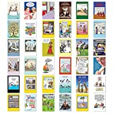 NobleWorks, Birthday Bestsellers - 36 Assorted Happy Birthday Greeting Cards with Envelopes - Adult Bday Comic Cartoons AC2911BDG-B1x36