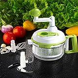 Uten Multifuncional Picadora de Frutas y Verduras con un Recipiente Grande para...