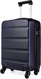 """KONO 20 inch Suitcase Hard Shell Carry-On Hand Luggage with 4 Spinner Wheels Lightweight ABS Trolley Case Travel Bag (20"""", 1991 Navy)"""