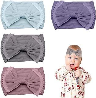CN Baby Nylon Headband Pom Pom Hair Band Super Stretchy Knot Baby Girls Headband For Newborn Toddler Infant