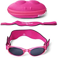 Tuga Baby/Toddler UV 400 Sunglasses with Two Adjustable Straps and Case (0-5 Years)