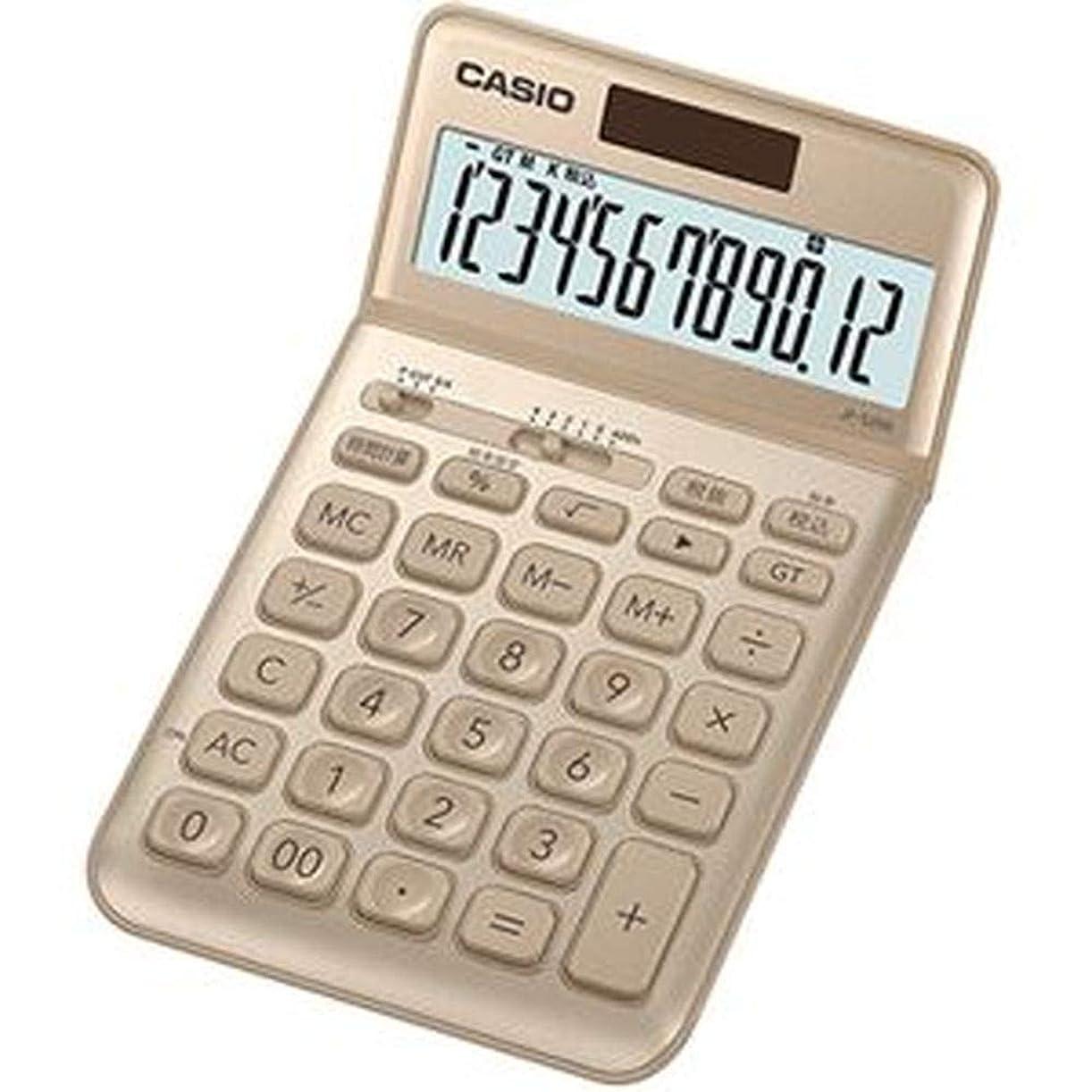 開拓者推論リラックス==まとめ== カシオ?デザイン電卓?12桁ジャストタイプ?ゴールド?JF-S200-GD-N?1台-×2セット-