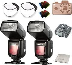 GODOX Thinklite TTL TT685N Camera Flash 2.4GHz High Speed 1/8000s GN60 for Nikon DSLR i-TTL Autoflash with X1T-N Wireless Transmitter (2 X TT685N+X1T-N)