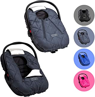Cozy Cover Premium Infant Car Seat Cover (Charcoal) with Polar Fleece – The..