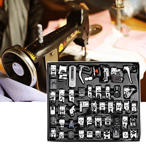 OurLeeme 48pcs Máquina de coser prensatelas Conjunto Hem pie accesorios de los recambios para el hermano del cantante