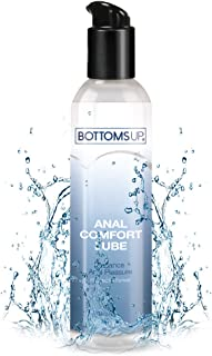 Water-Based Anal Comfort Lubricant, 6.3 fl. oz. - Bottoms Up® Backdoor Relax Lube, Gently Numbing & Desensitizing to Reduce Pain & Enhance Pleasure, Discreet Packaging