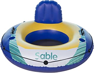 Sable Inflatable Water Float, Floating Tube Pool Lounger for Swimming Pool, Lake, and River, 47 inches Diameter