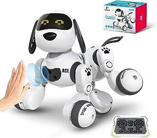 اسباب بازی های ربات DEERC برای کودکان از راه دور ربات قابل برنامه ریزی ربات سگ Smart RC ربات با حس حرکت ، کیت رباتیک با چشم LED ، راه رفتن ، صحبت کردن ، آواز خواندن ، رقصیدن ، هدیه تعاملی برای دختران و پسران