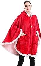 Huggle Hoodie Sweatshirt with Bats Sleeve, Wearable Sherpa Oversized Women Blanket, Fleece Women Blanket Super Thick Warm ...