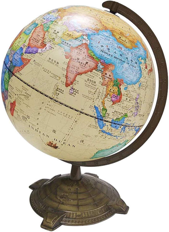 JIAHE115 Jiale Metal Rotation Globe Globe Globe HJCA Europäische Retro Tischlampe Große Dekorative Ornamente HD Unterrichtsversion Metal Globe 9.44 × 12.59 × 15.74 Zoll B07NL335X1 | Passend In Der Farbe  b9b57f