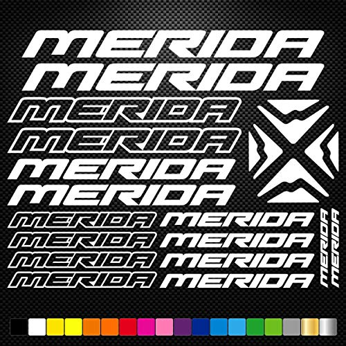 Supersticks Set Merida Bikes 5–20 cm stickers, autostickers, stickers, decal, muurtattoo, van hoogwaardige folie, uv- en wasstraatbestendig,